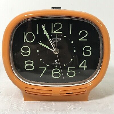 Citizen Crystron Orange Alarm Clock Japan Vintage