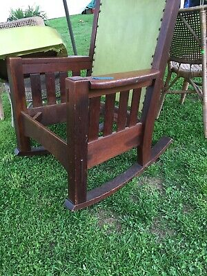 Vintage Harden mission style rocking chair
