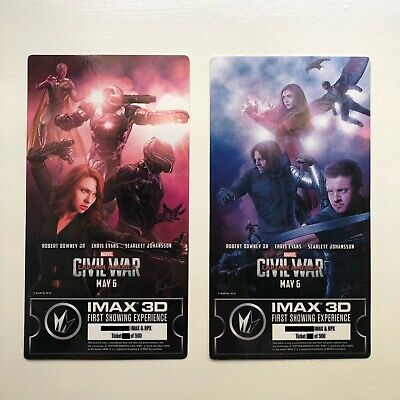 Marvel Captain America Civil War IMAX First Showing Ticket Poster 2 Set Hawkeye