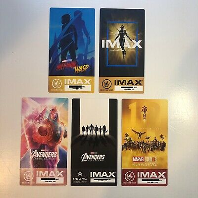 Marvel's Avengers Infinity War Endgame IMAX Ticket 5 Set - Ant Man & the Wasp