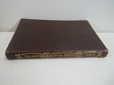 Antique 1858  The Autocrat of the Breakfast Table by Ralph Waldo Emerson Book