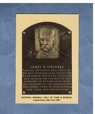 JIM O'ROURKE, Giants ~ Official Hall of Fame/HoF METALLIC plaque-card 1/1,000