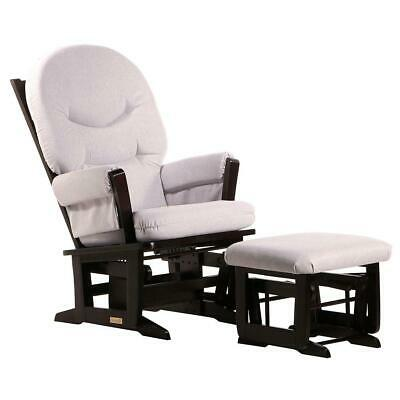 Dutailier Ultramotion- Modern Glider and Ottoman Combo- Espresso Finish and
