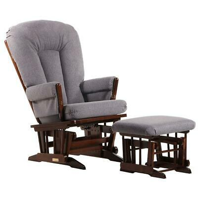 Dutailier Ultramotion- 2 Post Glider and Ottoman Combo- Coffee Finish and Dark