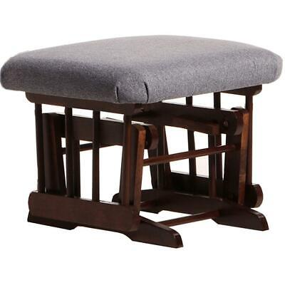 Dutailier Ultramotion Ottoman for Sleigh or 2 Post Glider- Coffee Finish and