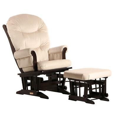 Dutailier Ultramotion- Sleigh Glider and Ottoman Combo - Espresso Finish and
