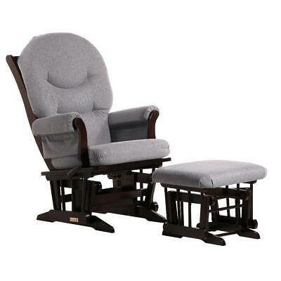 Dutailier Ultramotion Sleigh Glider and Nursing Ottoman Combo- Espresso Finish,
