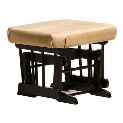 Dutailier Ultramotion Ottoman for Sleigh or 2 Post Glider- Espresso Finish and