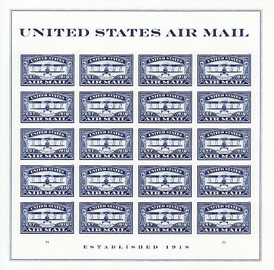 United States Air Mail Stamp Sheet -- Usa #5281 Forever 2018