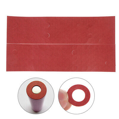 200pcs 18650 battery insulators insulations ring adhesive cardboard paper red
