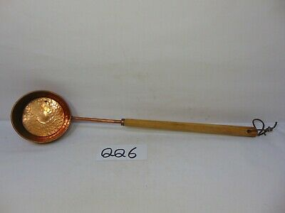 "Vintage Hammered Copper Ladle 21"" Long With Wood Handle Water-Drinking-Tea"