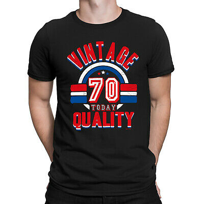 Mens 70th Birthday T-Shirt VINTAGE QUALITY 70 Today Funny Present Gift Top