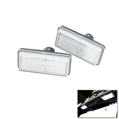 White Error Free LED License Plate Light For Toyota Land Cruiser Lexus GX LX470