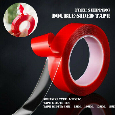 3M Strong Permanent Double Sided Super Self-Adhesive Sticky Tape Roll Adhesive