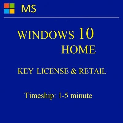 INSTANT, WINDOWS 10 Home (32/64), ORIGINAL & Genuine License Key, LIFETIME