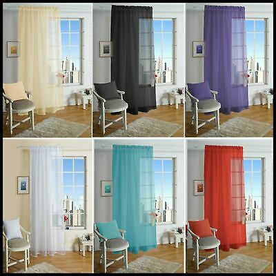 Eyelet Ring Top Voile Curtain Panel in Various Colour & Size- Net Voile Curtains
