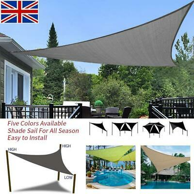 Waterproof Triangle Sun Shade Sail Garden Patio Awning Canopy Sunscreen UV Block