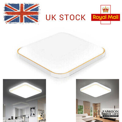 LED Ceiling Down Light Bright Square Panel Wall Kitchen Bathroom Lamp Cool White