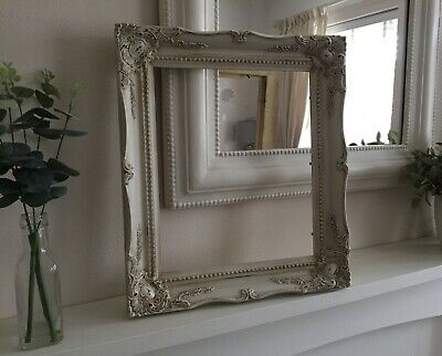 French Vintage Shabby Chic Ornate Photo/Picture Wall Frame Antique White Wedding