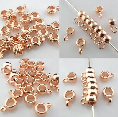 Wholesale DIY Jewelry Making Connectors Charms Bails Pendant Rose gold