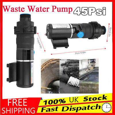 DC 12V 45LPM Waste Water Pump Heavy Duty Submersible Sewage Dirty Ship Industry