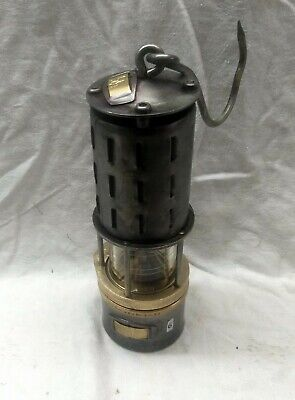 N°006.  Wetterlampe Grubenlampe Brass Miners Safety Lamp Old Miners Lamps