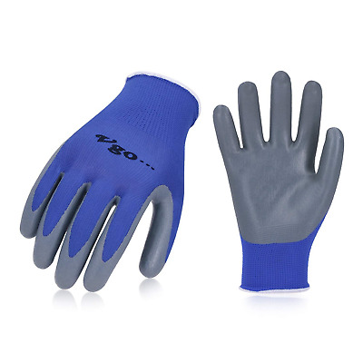 Vgo 10 Pairs Nitrile Coating Gardening and Work Gloves Construction Builder PPE