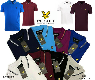 LYLE & SCOTT Short Sleeve Men's Classic Tipped Polo |New with Tag size S to 3XL