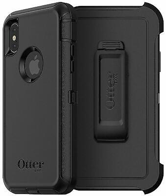 OtterBox Defender Series Case for iPhone Xs & X, BLACK , Screenless Edition New