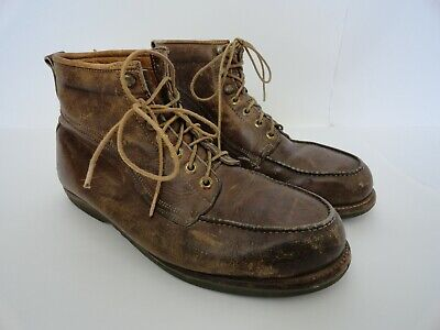VINTAGE VASQUE 70S Hiking Workwear Boots Retro Brown Leather Mens ...