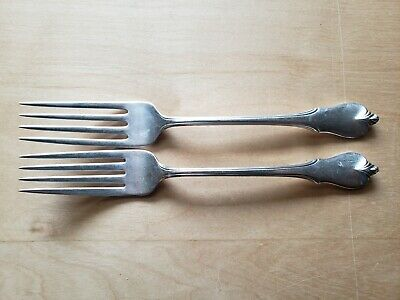 """2 ANTIQUE VINTAGE COLLECTIBLE Forks 7.25"""",WALLACE STERLING"""