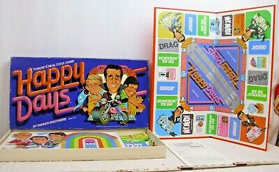 HAPPY DAYS TV SHOW FONZIE'S REAL COOL GAME BOXED COMPLETE 1970s
