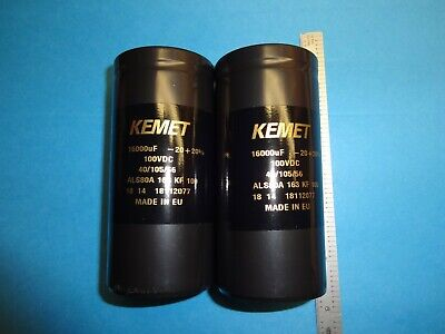 16000Mfd 100 Volt Kemet  Capacitor Set For Dynaco Hafler Phase Others