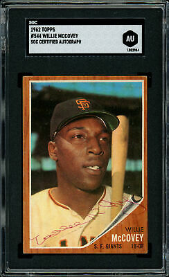 Willie McCovey Autographed 1962 Topps Card #544 Giants Vintage SGC #AU1002984