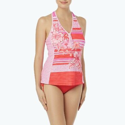 d9870c2be8d55 BEACH HOUSE 12, 14, 16 Sunset Coral 2-Pc. Racerback Zip Front ...
