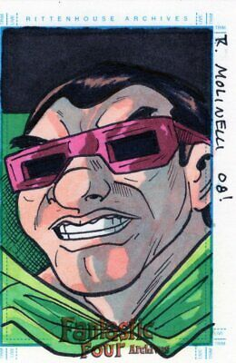 Marvel Fantastic Four Archives -  Color Sketch Card by Molinelli - Mole Man