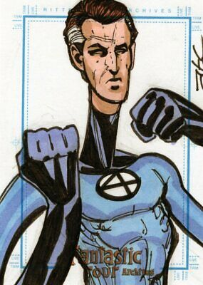 Marvel Fantastic Four Archives -  Color Sketch Card by Cleveland - Reed Richards