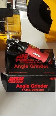 Small Red//Black AIRCAT 6340 4 1//2 One-Handed Grinder