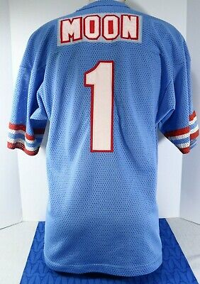 a2b51178 Vintage Warren MOON Men's Jersey NFL Houston Oilers Men's LARGE Raven's Knit