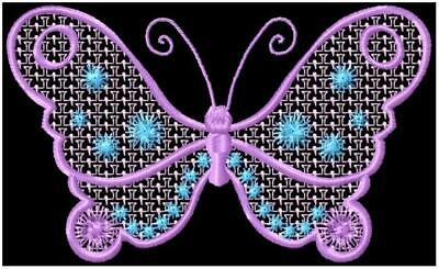 SOFT BUTTERFLIES  10 MACHINE EMBROIDERY DESIGNS CD or USB