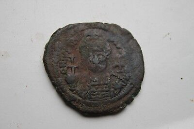 ANCIENT BYZANTINE JUSTINIAN FOLLIS COIN 6th CENTURY AD