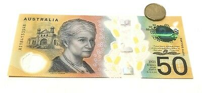 RARE new $50 AUD note spelling errors A SERIES - MINT CONDITION