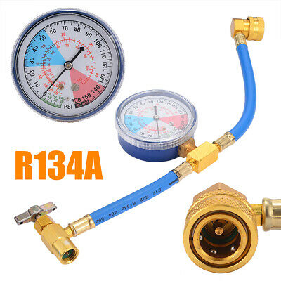 Auto A/C Refrigerante Ricarica Measuring Hose Gauge R134A 300mm Manometro Kit