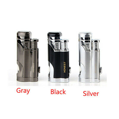 Windproof Double Jet Flame Refillable Butane Gas Cigarette Lighter