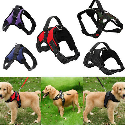 Padded Pet Dog No Pull Harness Heavy Duty Handle Adjustable Soft Training Vest K