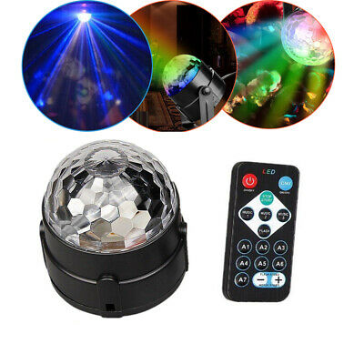 RGB LED Disco Ball DJ Party Light Effect Strobe Remote Auto Sound Activated
