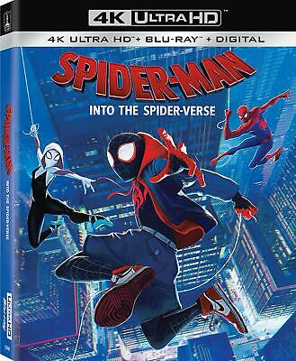 Spider-Man Into the Spider-Verse 4K Shameik Moore Peter Ramsey discs 2 NEW