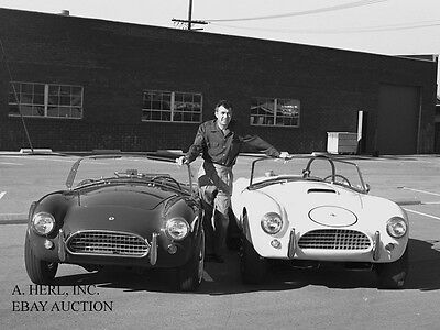 AC Cobra - Shelby Cobra - production & race cars 1964 with Carroll Shelby -photo