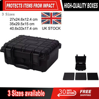 Plastic Tool Boxes Protective Equipment Hard Carry Case Camera Removable Foam