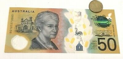 RARE new $50 AUD note spelling errors no longer in production MINT CONDITION